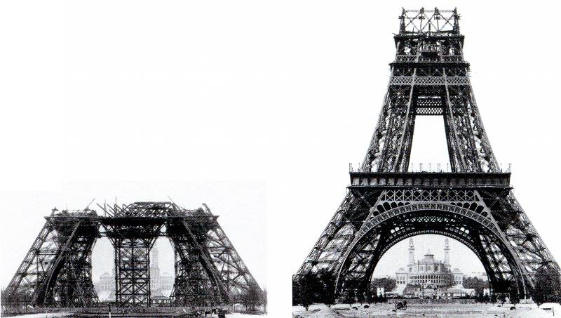 Tour Eiffel en construction